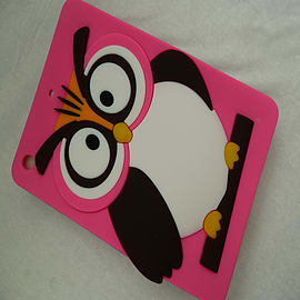HOT PINK SILICONE OWL CASE COVER FOR IPAD MINI Mobile phones
