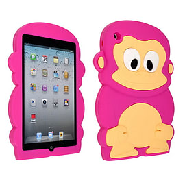 DIA HOT PINK MONKEY SILICONE CASE COVER TO FIT IPAD MINI Mobile phones