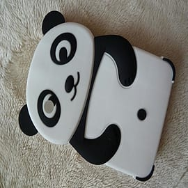 3D Animal Panda Soft Silicone Case For Samsung Galaxy Tab 2 7.0 P3100/P3110 - Black Mobile phones
