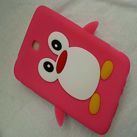 HOT PINK SILICONE PENGUIN CASE COVER FOR GALAXY TAB 3 7 P3200 Mobile phones