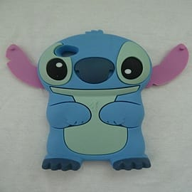 DIA Light Blue Disney Stitch silicone case cover for iPod Touch 4 4g 4th gen Mobile phones