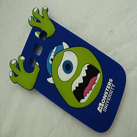 DIA ROYAL BLUE MIKE MONSTERS INC SILICONE CASE COVER FOR SAMSUNG GALAXY S3 I9300 Mobile phones