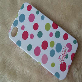 Multi coloured dots Matt effect Cath Kidston Style hard case to fit iphone 4 4g 4s Mobile phones