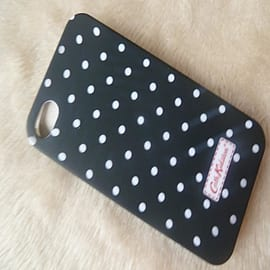 Black White dots Matt effect Cath Kidston Style hard case to fit iphone 4 4g 4s Mobile phones