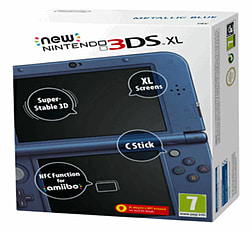 The New Nintendo 3DS XL - Metallic Blue Nintendo 3DS
