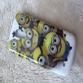 DIA Despicable Me Minions Hard case to fit Samsung Galaxy S4 Mini i9190 Design 3 Mobile phones