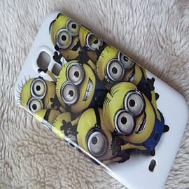 DIA Despicable Me Minions Hard case to fit Samsung Galaxy S4 I9500 Design 3 Mobile phones