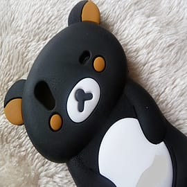 DIA Black Bear Silicone Case to fit Samsung Galaxy Ace S5830 Mobile phones