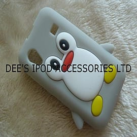 Samsung Galaxy Ace S5830 Penguin Style Silicone Skin Case / Cover / Shell - Grey Mobile phones