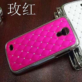 DIA HOT PINK CHROME EFFECT DIAMANTE HARD CASE FITS SAMSUNG GALAXY S4 IV MINI i9190 Mobile phones