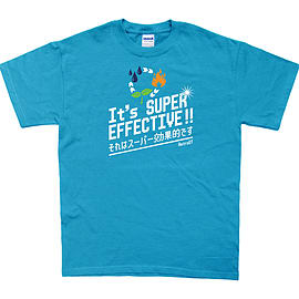 It's Super Effective T-Shirt (X-Large, Blue) Clothing
