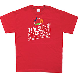 It's Super Effective T-Shirt (Small, Red) Clothing