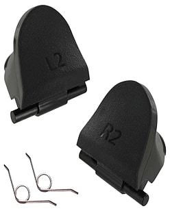 ZedLabz replacement controller L2 R2 trigger button & spring set for Sony PS4 controller repair part PS4