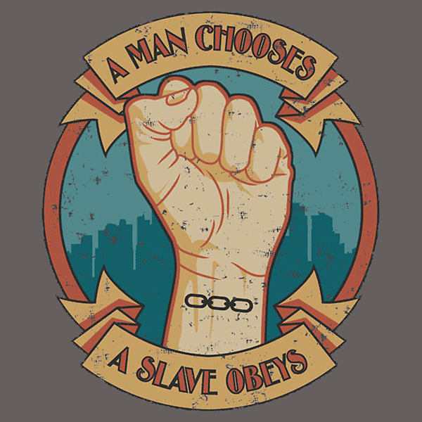 Slave Obeys Bioshock T-Shirt (Men's XX-Large) screen shot 2