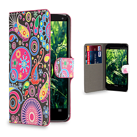 Huawei Ascend P6 Stylish Design PU leather case - Jellyfish Mobile phones