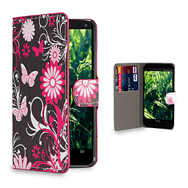 Huawei Ascend G6 (3G) Stylish Design PU leather case - Gerbera Mobile phones