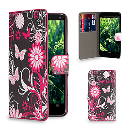 Huawei Ascend Y300 Stylish Design PU leather case - Gerbera Mobile phones