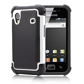 Samsung Galaxy Ace 4 G313 Dual layer shockproof case - White Mobile phones