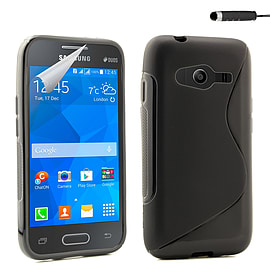 Samsung Galaxy Ace 4 G313 S-Line case - Black Mobile phones