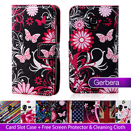 Samsung Galaxy Ace 4 G357 PU leather design book case - Gerbera Mobile phones