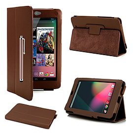 Google Nexus 7 Stylish PU leather book case - Brown Mobile phones