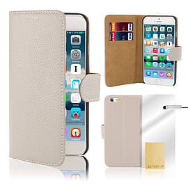 iPhone 6 (4.7) Genuine leather case - White Mobile phones