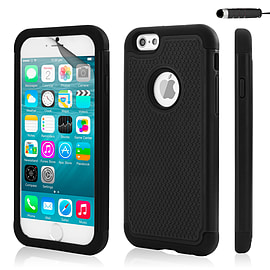 iPhone 6 (4.7) Dual layer shock proof case - Black Mobile phones