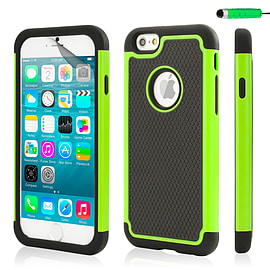 iPhone 6 (4.7) Dual layer shock proof case - Green Mobile phones