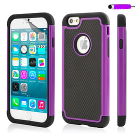 iPhone 6 (4.7) Dual layer shock proof case - Purple Mobile phones