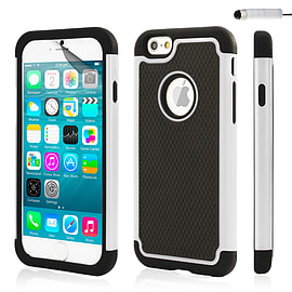 iPhone 6 (4.7) Dual layer shock proof case - White Mobile phones