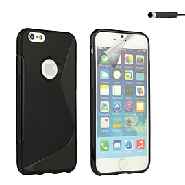 iPhone 6 (4.7) S-Line gel case - Black Mobile phones