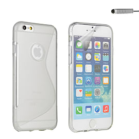 iPhone 6 (4.7) S-Line gel case - Clear Mobile phones