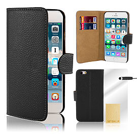 iPhone 6+ (5.5) Genuine leather case - Black Mobile phones