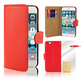 iPhone 6+ (5.5) Genuine leather case - Red Mobile phones