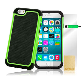 iPhone 6+ (5.5) Dual layer shock proof case - Green Mobile phones