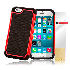 iPhone 6+ (5.5) Dual layer shock proof case - Red Mobile phones