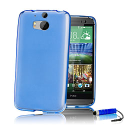 HTC One Mini 2 (M8 Mini) Crystal gel case - Deep Blue Mobile phones