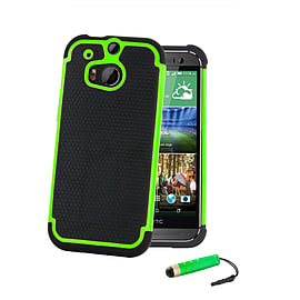 HTC One Mini 2 (M8 Mini) Dual layer shockproof case - Green Mobile phones