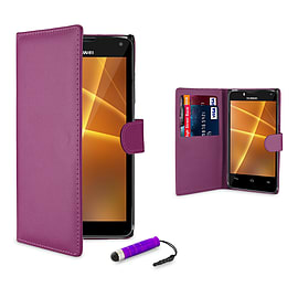 Huawei Ascend P7 Stylish PU leather case - Purple Mobile phones