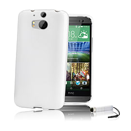 HTC One M8 Crystal gel case - White Mobile phones