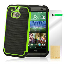 HTC One M8 Dual layer shockproof case - Green Mobile phones