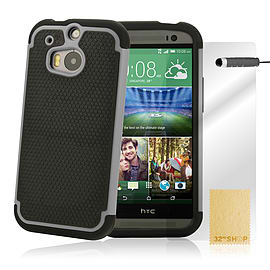 HTC One M8 Dual layer shockproof case - Grey Mobile phones