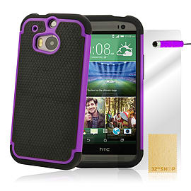 HTC One M8 Dual layer shockproof case - Purple Mobile phones