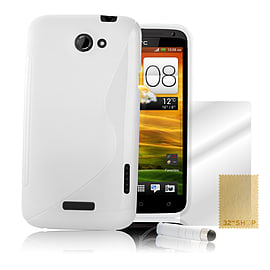 HTC One M8 S-Line gel case - White Mobile phones