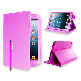 iPad Mini Angle book PU Leather Case - Baby Pink Tablet