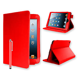 iPad Mini Angle book PU Leather Case - Red Tablet