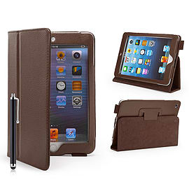 iPad Mini PU Leather Book Case - Brown Tablet