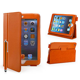 iPad Mini PU Leather Book Case - Orange Tablet