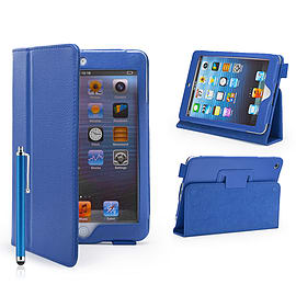 iPad Mini PU Leather Book Case - Sky Blue Tablet
