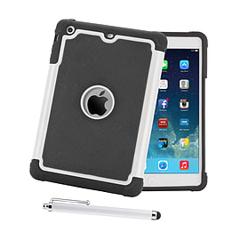 iPad Mini Dual Layer Shockproof case - White Tablet